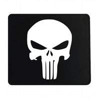 Crafty Graphics Punisher Inspired Small Black Mouse Mat - 200mm x 240mm