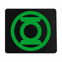 Crafty Graphics Green Lantern Inspired Small Black Mouse Mat - 200mm x 240mm