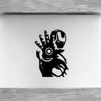 Crafty Graphics Iron Man Inspired Black Laptop & Computer Vinyl Decal Sticker