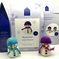 Snowman Needle Felting Kit