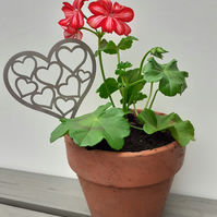 Stainless Steel Plant Pot Heart Decoration Garden Short