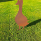 Rusty Metal Tall Duck Bird Garden Ornament Sculpture