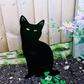 Metal Tall Cat Garden Ornament Silhouette Sculpture