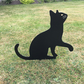 Metal Cat Garden Ornament Silhouette Sculpture