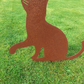 Rusty Metal Cat Garden Ornament Silhouette Sculpture