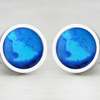 Blue 'Truthful Liquid' Cufflinks