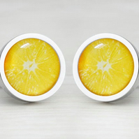 Zesty Orange Cufflinks