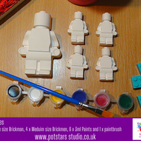 Paint at Home Large Brick Man Craft Kit - Children's Craft Kit