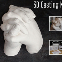 3D Casting Craft Kit - Holding Hands Moulding - Personalised Gift