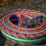 Scavenger Climbers Fire Triple Rope Belt - Handmade from retired climbing rope
