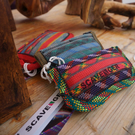 Scavenger Climbers Zip Pouch Purse - Handmade from retired climbing rope - Fire