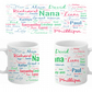Personalised Word Art Mug