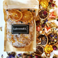 Citrus Bath Salts, Christmas Gift Natural Herbal Scented Gift