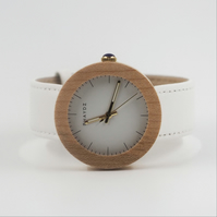 Swift Ladies Real Wood and leather Quartz watch