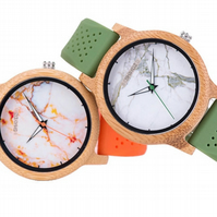 Dion Real Wood Marble Effect Quartz ladies watch (2 Options)