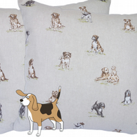 Various Breed Dogs, double sided Feature Cushion, Throw Pillow