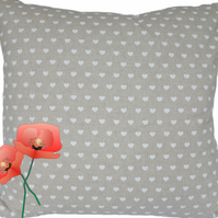 White Hearts design, double sided Feature Cushion, Throw Pillow
