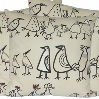 Character Bird, double sided Feature Cushion, Throw Pillow