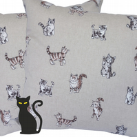 Kitten design, double sided Feature Cushion, Throw Pillow