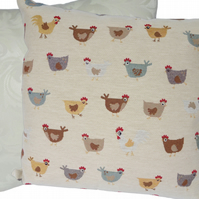 Tapestry Chicken, Feature Cushion, Throw Pillow