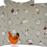 Cushion Cover, Character Chicken design Decorative Feature Throw Pillow