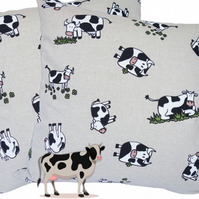 Cow design, double sided Feature Cushion, Throw Pillow