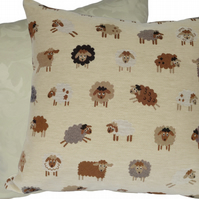 Cushion Cover, Tapestry Sheep design Decorative Feature Throw Pillow