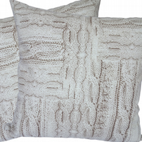 Cable Knit design, double sided Feature Cushion, Throw Pillow
