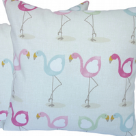 Character Flamingo, double sided Feature Cushion, Throw Pillow