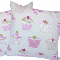 Cupcake, double sided Feature Cushion, Throw Pillow
