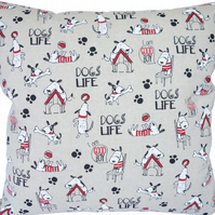 Dogs Life, double sided Feature Cushion, Throw Pillow