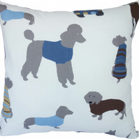 Blue Dog, double sided Feature Cushion, Throw Pillow