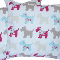 Scottie Dog, double sided Feature Cushion, Throw Pillow