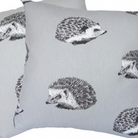 Grey Hedgehog, double sided Feature Cushion, Throw Pillow