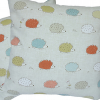 Coloured Hedgehog, double sided Feature Cushion, Throw Pillow
