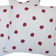 Ladybird, double sided Feature Cushion, Throw Pillow