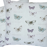 Cushion Cover, Butterfly Species design Decorative Feature Throw Pillow