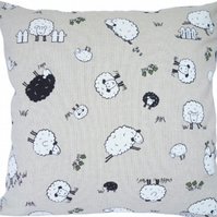 Cushion Cover, Character Sheep design Decorative Feature Throw Pillow
