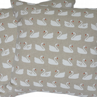 Swans, double sided Feature Cushion, Throw Pillow