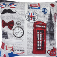London scene design 2, double sided Feature Cushion, Throw Pillow