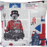 London scene design 1, double sided Feature Cushion, Throw Pillow