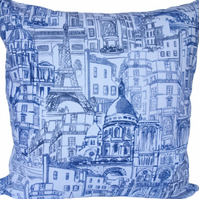 Paris design, double sided Feature Cushion, Throw Pillow