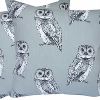 Cushion Cover, Grey Owls design Decorative Feature Throw Pillow