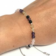 Karma Gems Worry, Anxiety & Positivity support Reiki Balance Bracelet Adjustable