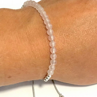 Karma Gems Rose Quartz Yoga Balance Reiki Bracelet - Adjustable