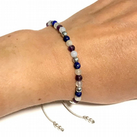 Karma Gems Sterling Silver Migraines & Headaches Holistic Bracelet Adjustable