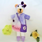 Ruby the Bear - Hand Crafted Knit Animal Soft Toy with Removable Clothes Dress