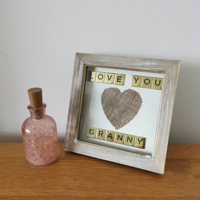 Granny Nan Daddy Mummy Scrabble Picture Frames UK Personalised Wall Art