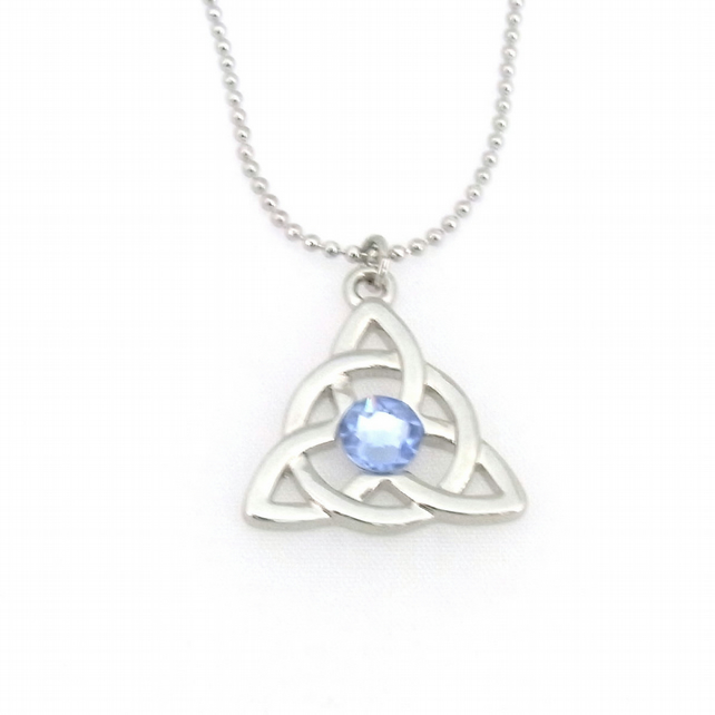 Birthstone crystal celtic pendant by Tophat Jewellery