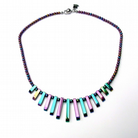 Rainbow haematite necklace